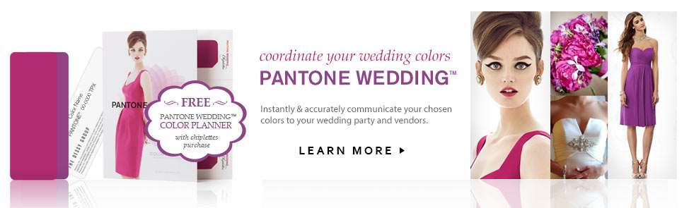 Pantone Wedding - Coordinate your wedding colors