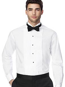 Tuxedo shirts by after six men 39 s formal shirts for Black tuxedo shirt slim fit