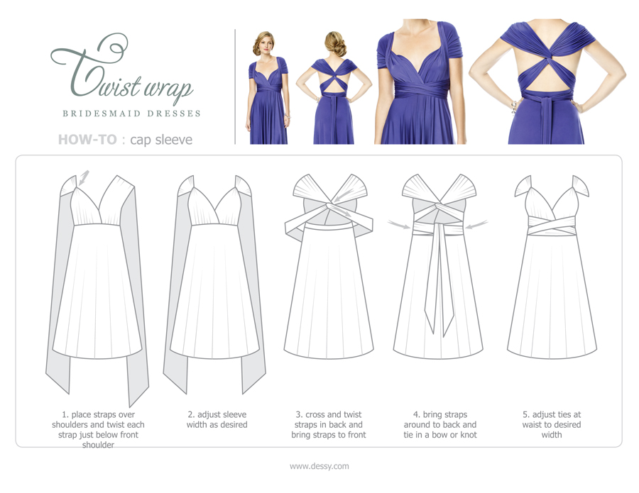 9 Chic Ways To Wrap A Twist Wrap Bridesmaid Dress