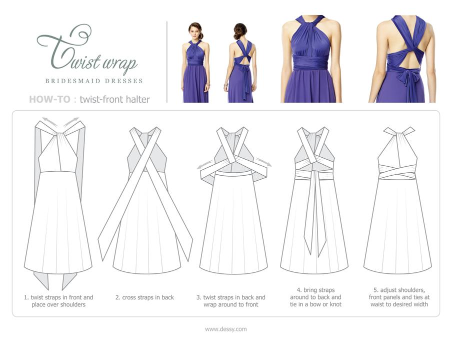 9 Chic Ways To Wrap A Twist Wrap Bridesmaid Dress