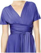 Convertible Wrap Dress with Sleeves