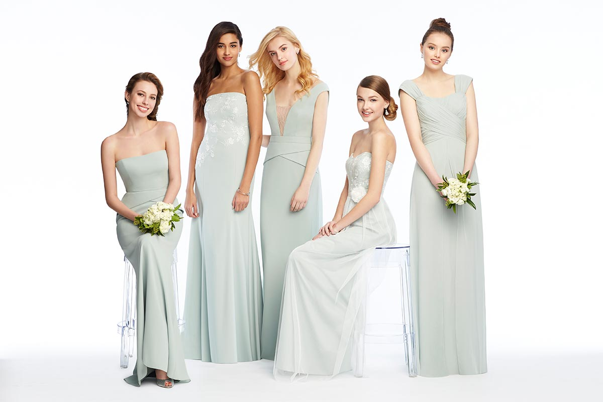 Mix Match Bridesmaid Dresses In Celadon
