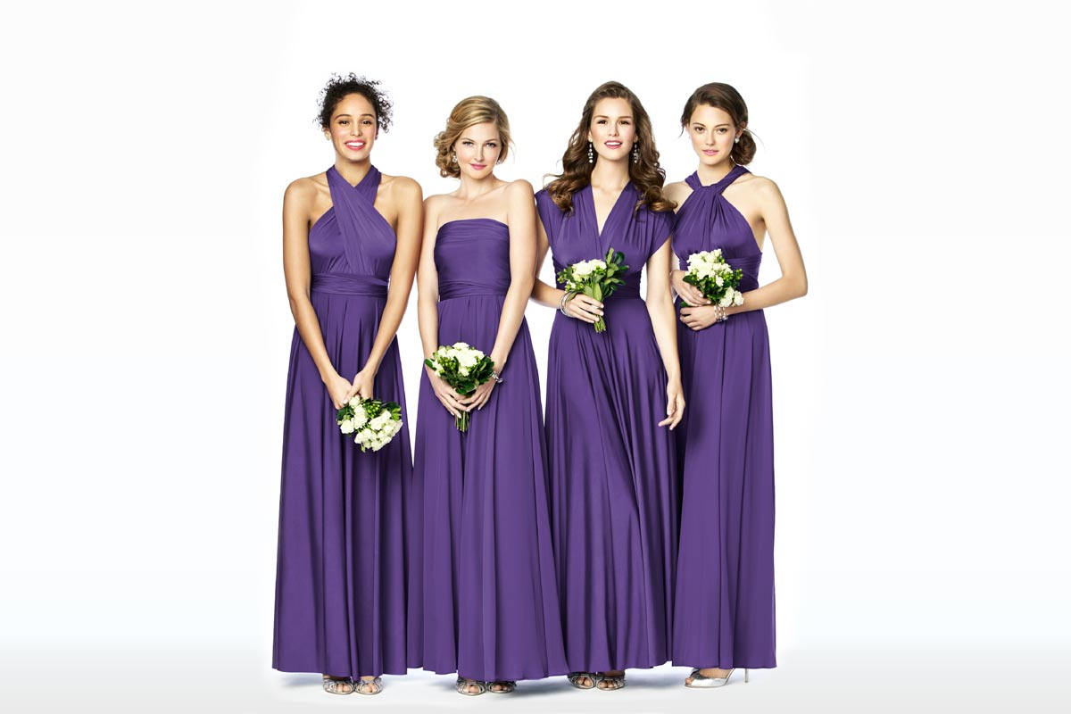 Mix Match Bridesmaid Dresses Twist Wrap