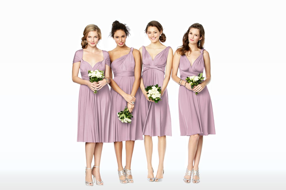 Mix Match Bridesmaid Dresses Twist Wrap Desses