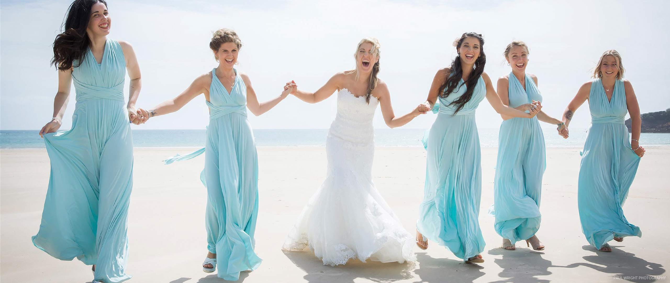 Twist Dresses Real Wedding: Canal Blue
