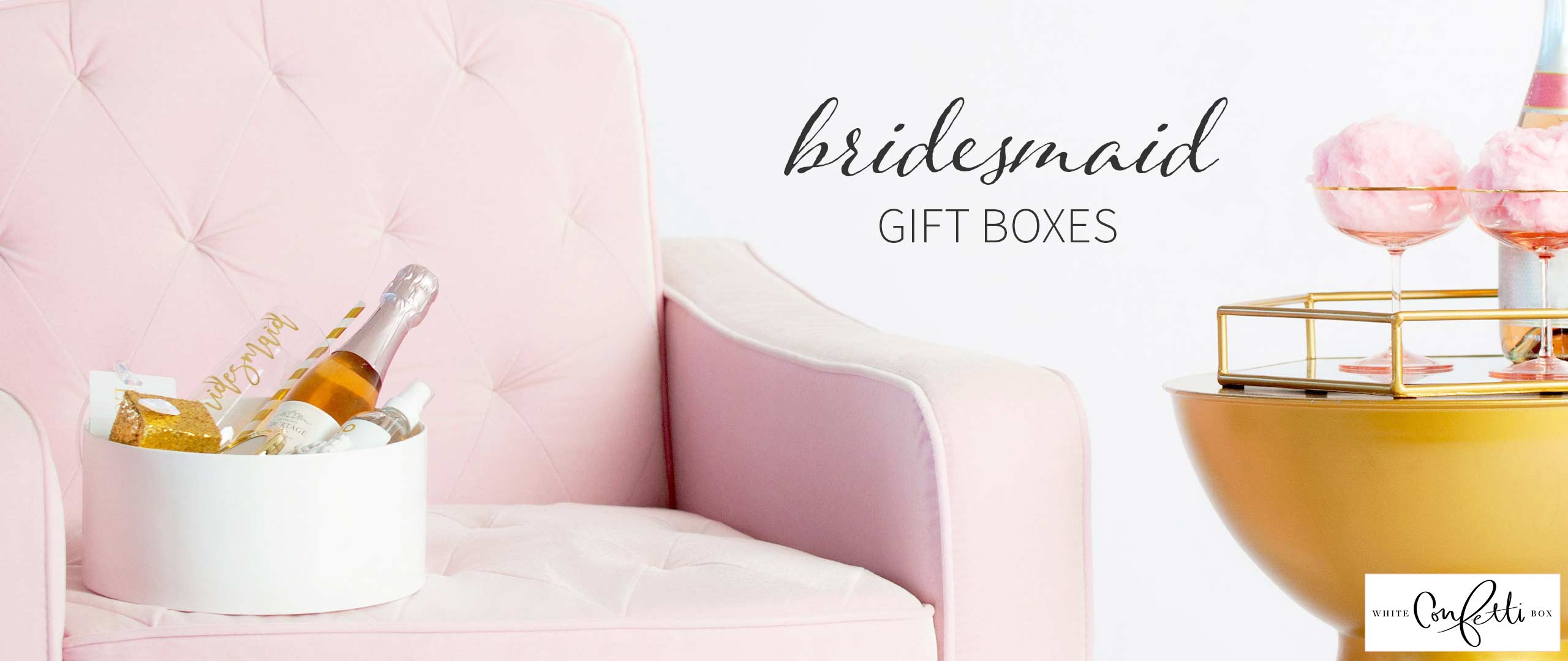 Bridesmaid Gift Boxes by White Confetti Box