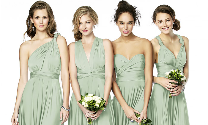Twist Wrap Bridesmaid Dresses | The Dessy
