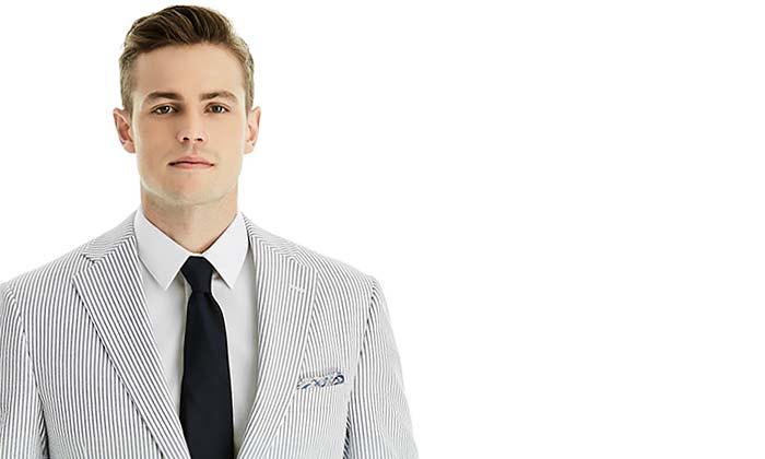 Summer Wedding Suit Men S Seersucker Suit The Dessy Group