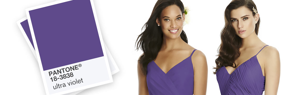 Regalia Pantone Ultra Violet Bridesmaid Dresses
