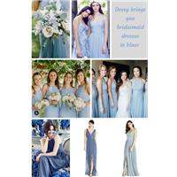 Which blue for your bridesmaids?