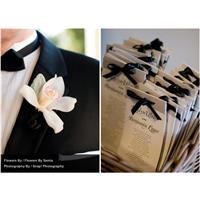 A black and white winter wedding