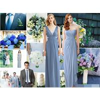 Bridesmaid Dresses in Steel Blue