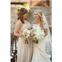 Real Weddings: Brides With Their Maid/Matron of Honor Wearing Dessy!