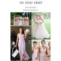 10 things brides should know about one-shoulder bridesmaid dresses