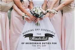 Wedding Day Essentials: The Ultimate List of Bridesmaid Duties for the Big Day
