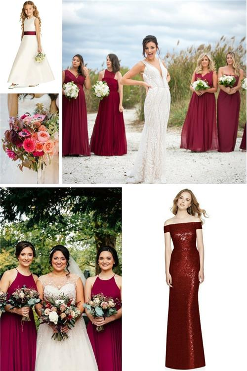 Burgundy bridesmaid dress inspiration - your girls are going to love this classy shade and style